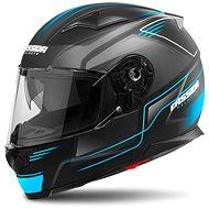 CASSIDA Apex Fusion,  (černá matná/světle modrá) - Helma na motorku