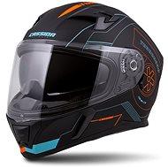 CASSIDA Integral 3.0 Turbohead,  (černá matná/oranžová/modrá) - Helma na motorku