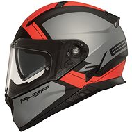 VEMAR Zephir Mars (matná stříbrná/ červená) - Helma na motorku