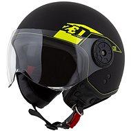 ZED přilba C30,  (černá matná/žlutá fluo) - Helma na skútr