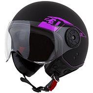 ZED přilba C30,  (černá matná/růžová) - Helma na skútr