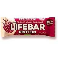 Lifefood Lifebar Protein Bio Raw malinová – 15 ks - Raw tyčinka