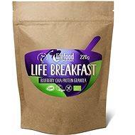 Lifefood Life Breakfast Bio Raw Granola borůvková s chia semínky - Proteinová kaše