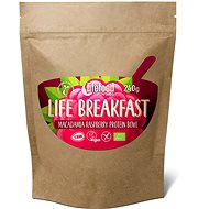 Lifefood Life Breakfast Organic Raw Raspberry with Macadamia - Protein Puree