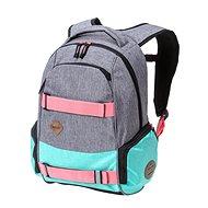 Nugget Bradley 3 Backpack Ht. Grey/Ht. Light Mint/Black - Městský batoh