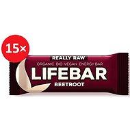 Lifefood Lifebar tyčinka červená řepa BIO – 15 ks - Raw tyčinka