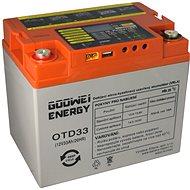 GOOWEI ENERGY OTD33-12, baterie 12V, 33Ah, DEEP CYCLE - Trakční baterie