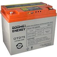 GOOWEI ENERGY OTD75-12, baterie 12V, 75Ah, DEEP CYCLE - Trakční baterie