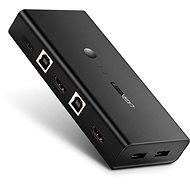 Ugreen 2 In 1 Out HDMI + USB-B + USB-A KVM Switch Black - Přepínač