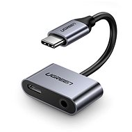 Ugreen Type-C (USB-C) To 3.5mm Jack (F) + Type-C (F) Adapter Silver - Redukce