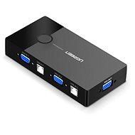 Ugreen 2 In 1 Out VGA + USB-B + USB-A KVM Switch Black - Přepínač