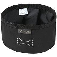 Olala Pets cestovní miska 16 cm, černá - Příspěvěk pro útulek