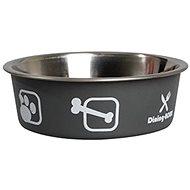 Karlie-Flamingo Stainless-steel Bowl with Plastic Coating Grey 23cm 2200ml