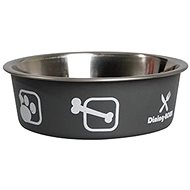 Karlie-Flamingo Stainless-steel Bowl with Plastic Coating, Grey 21.5cm 1500ml