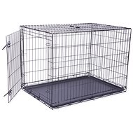 DOG FANTASY Folding Cage XL Black 1 Door - 106.5 × 76 × 71cm