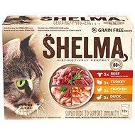 Shelma bezobilné dušené filetky 4 druhy masa 12 × 85 g - Příspěvěk pro útulek