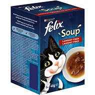 Felix Soup Delicious selection with beef, chicken and lamb 6x48g - Shelter Contribution