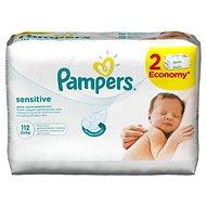 PAMPERS Wipes Sensitive 2× 56 ks - Dětské vlhčené ubrousky