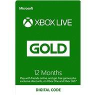 Xbox Live Gold - 12 měsíční členství - Dobíjecí karta