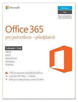 Microsoft Office 365 pro jednotlivce  ( elektronická licence )