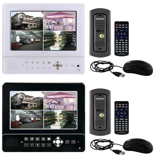 """Bezdrátový zvonek, videotelefon, 9"""" LCD displej, dotyková tlačítka, slot pro HDD 2,5 SATA, napájení 12V"""
