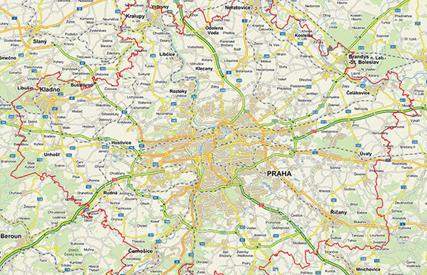 mapa - oblast poskytování služby AlzaBox HOME