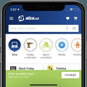 telefon s aplikací Alza.cz