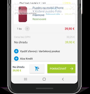 screenshot jak využít slevový poukaz v aplikaci