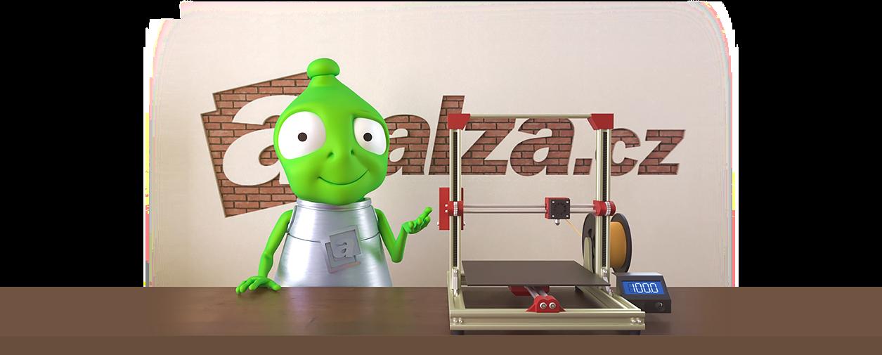 Alzák s 3D tiskárnou