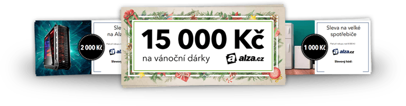 slevové šeky 15 000 Kč na vánoční dárky