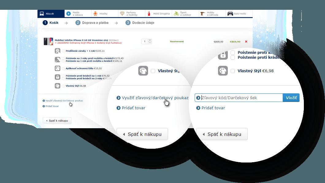 screenshot - Využít slevový / dárkový poukaz