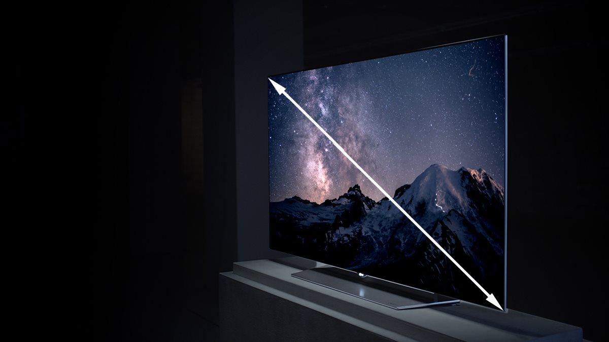 uhlopricka; televize; monitor; displej; velikost; prevod jednotek