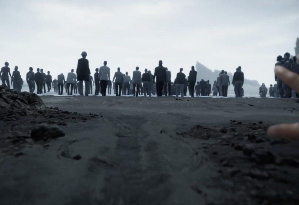 Death Stranding; screenshot: the beach