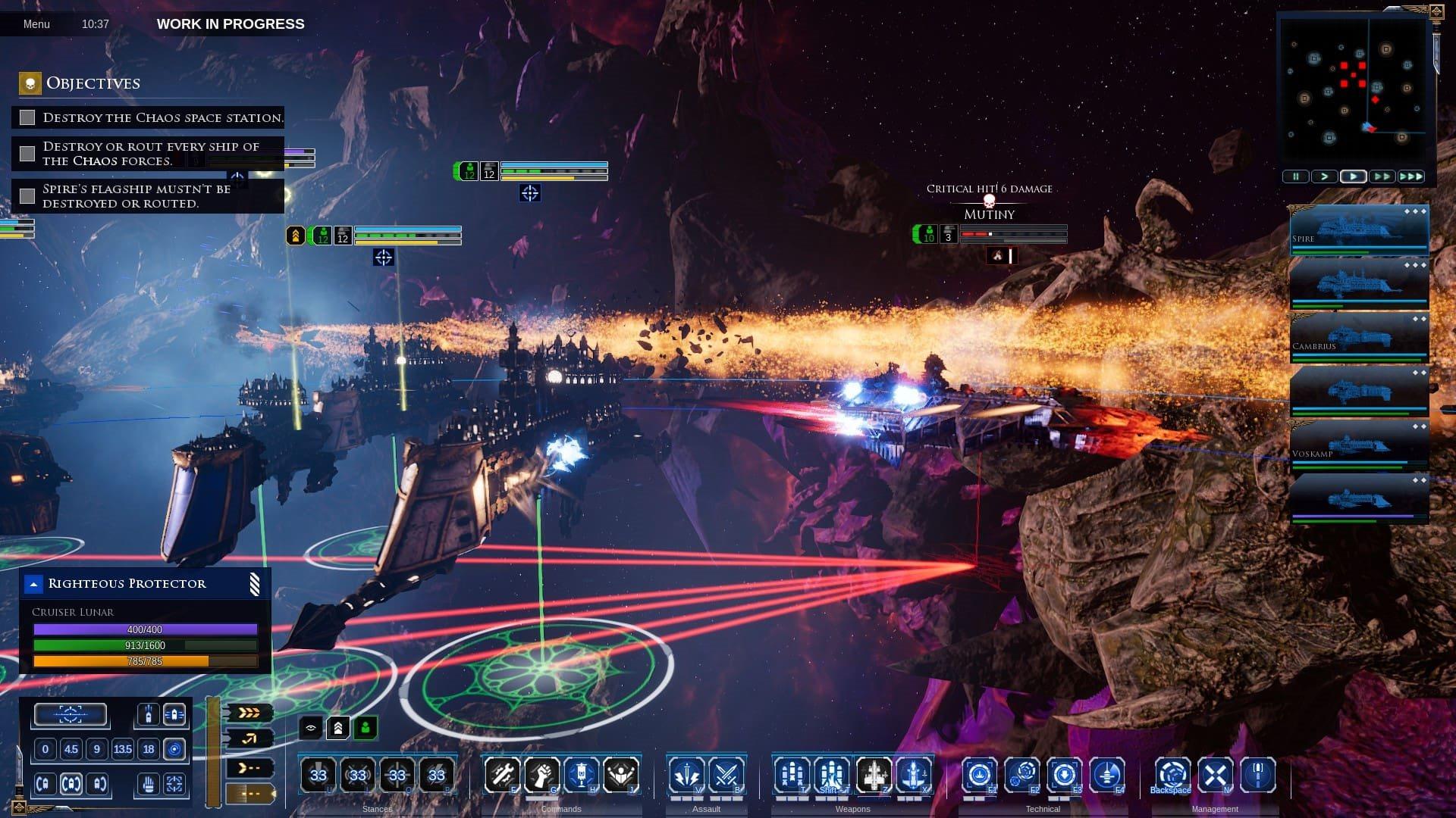 Battlefleet Gothic: Armada 2; screenshot: gameplay