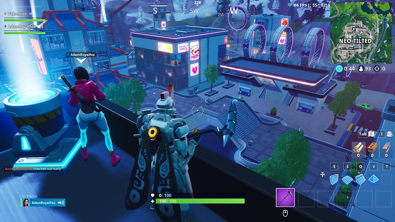 Fortnite; gameplay: neo tilted