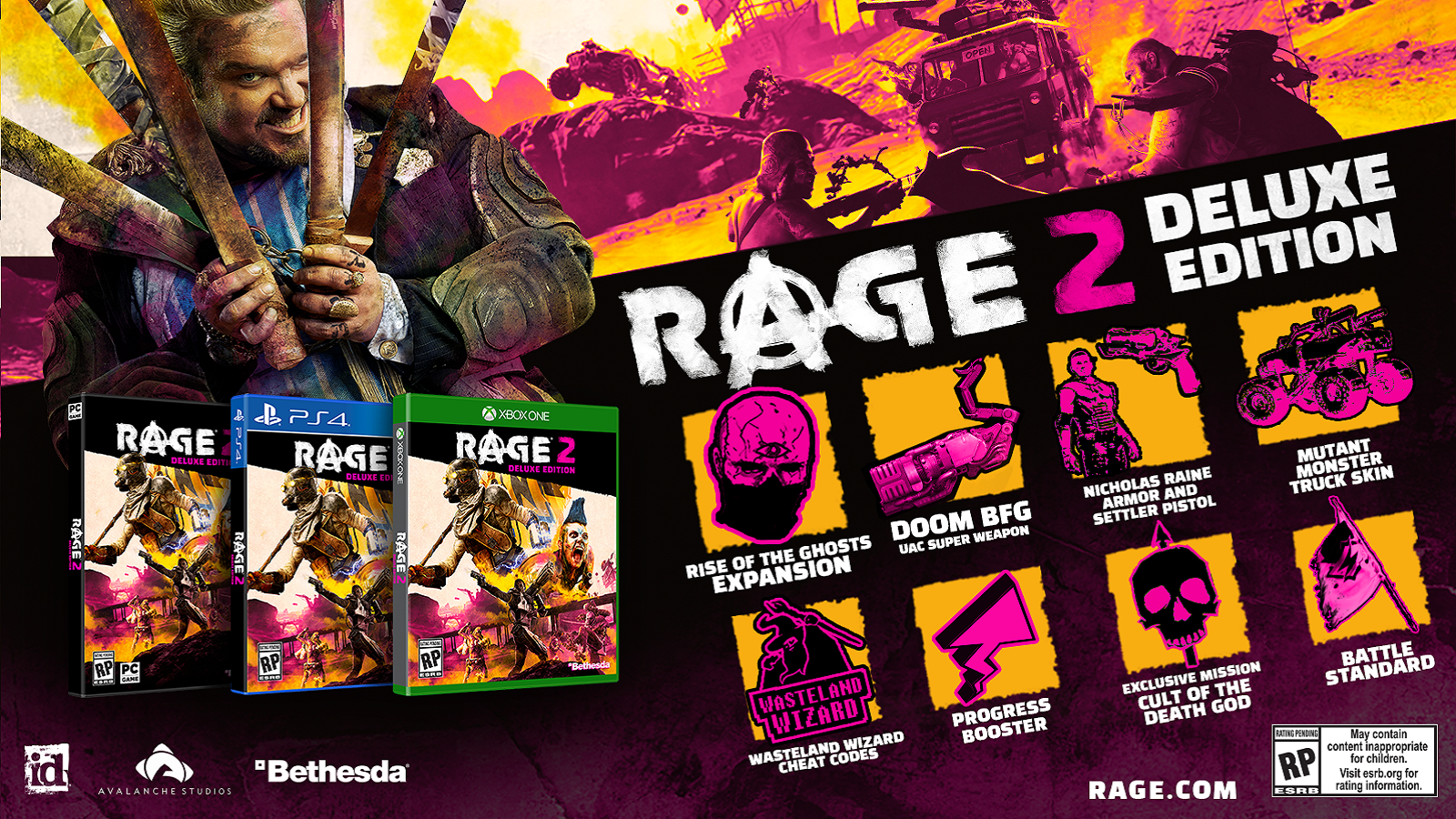 Rage 2; wallpaper, deluxe edition