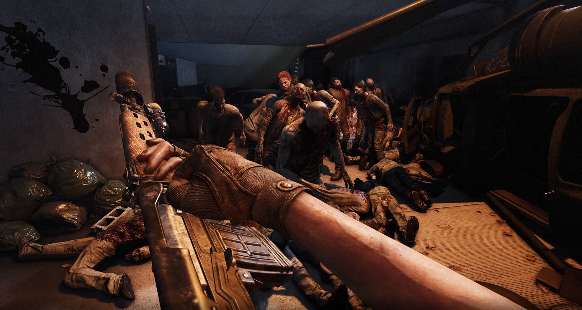 OVERKILL's The Walking Dead; screenshot: zombie
