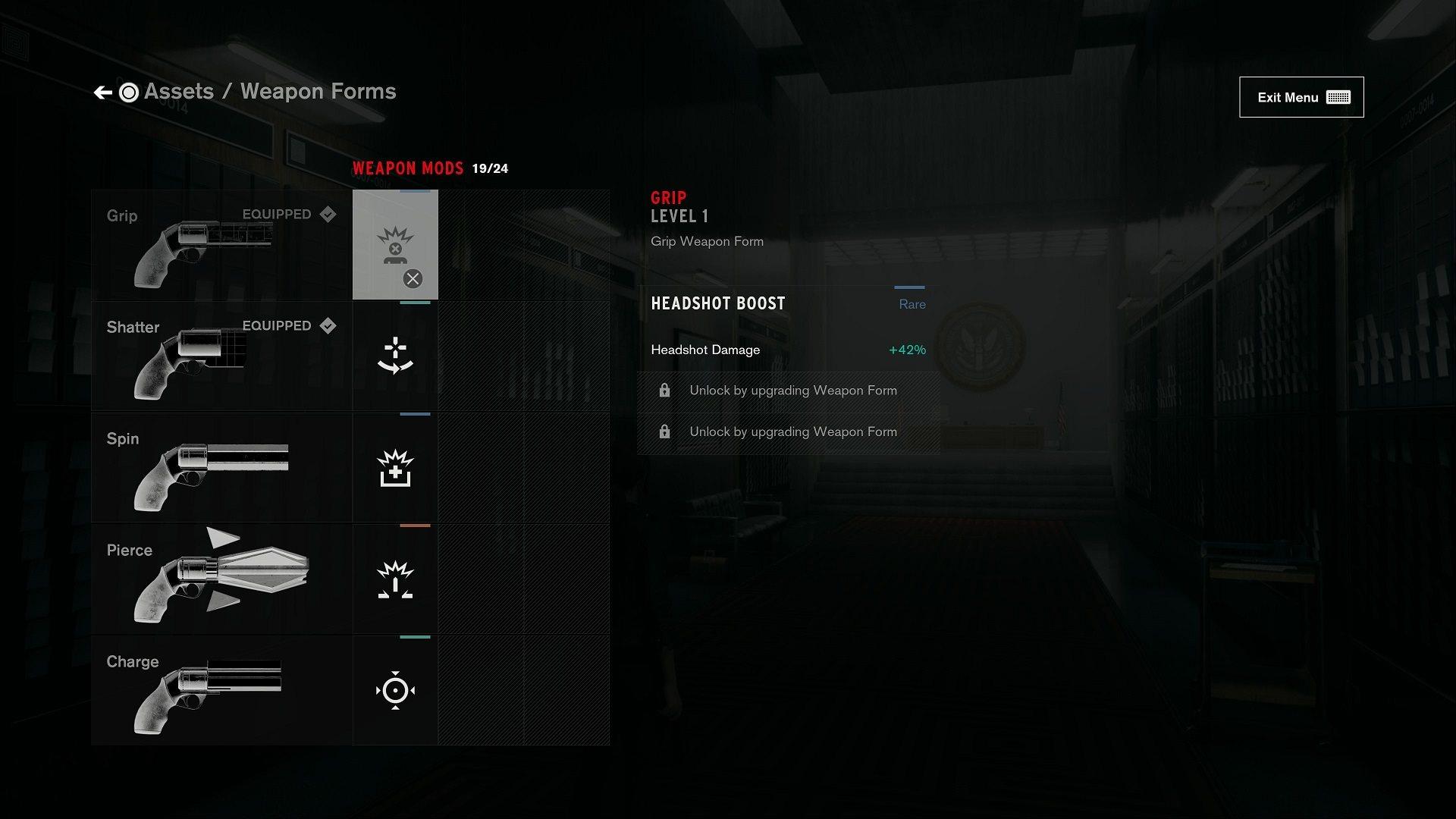 Control; screenshot: zbraně, modifikace
