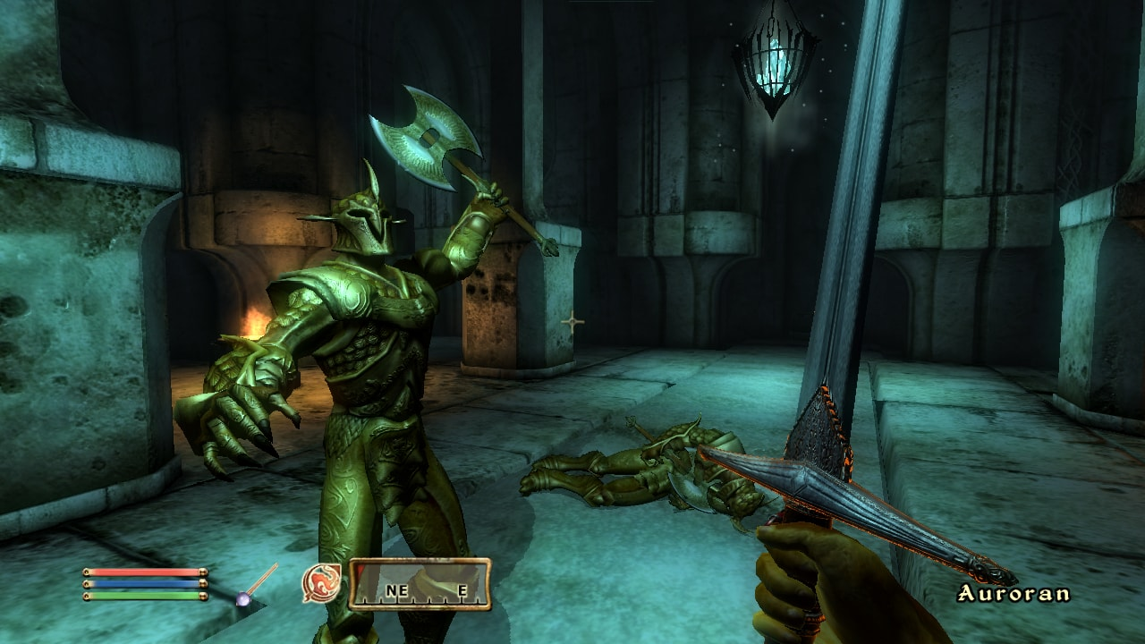 The Elder Scrolls IV: Oblivion, screenshot, Engine souboj