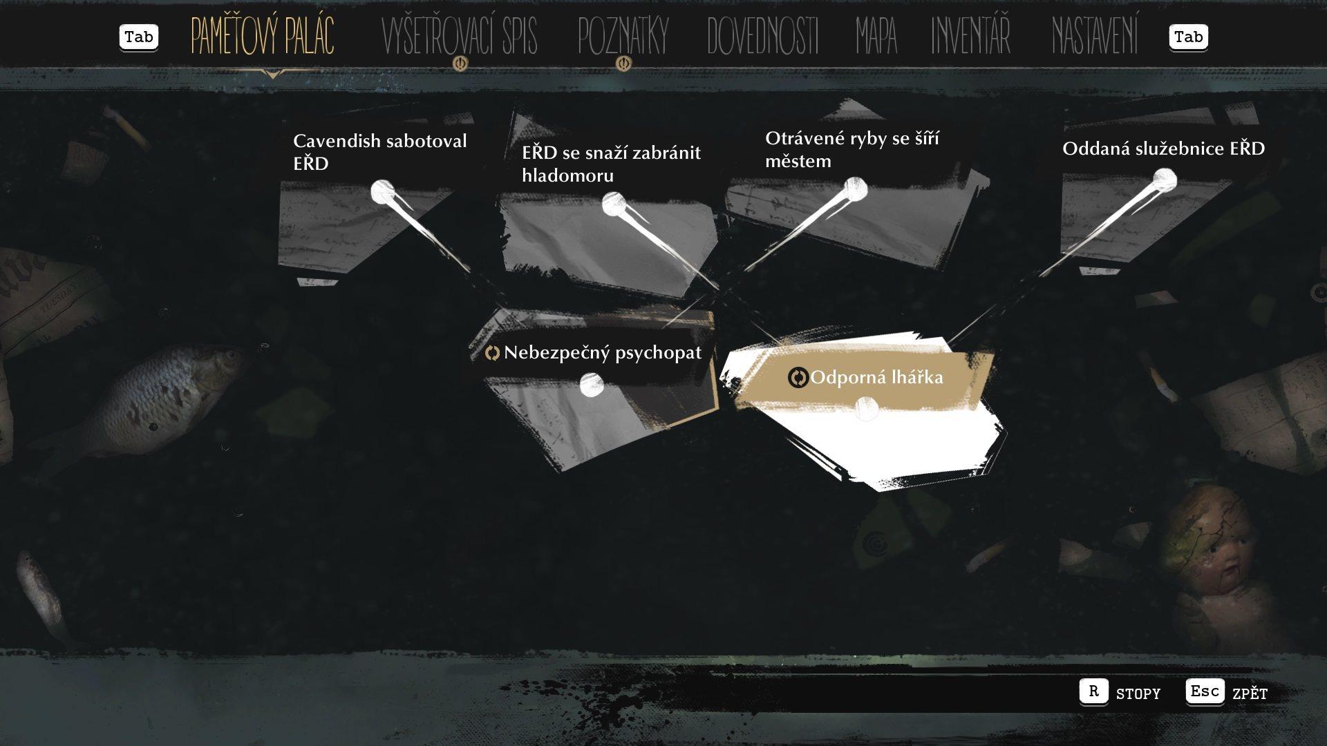 The Sinking City; gameplay: důkazy