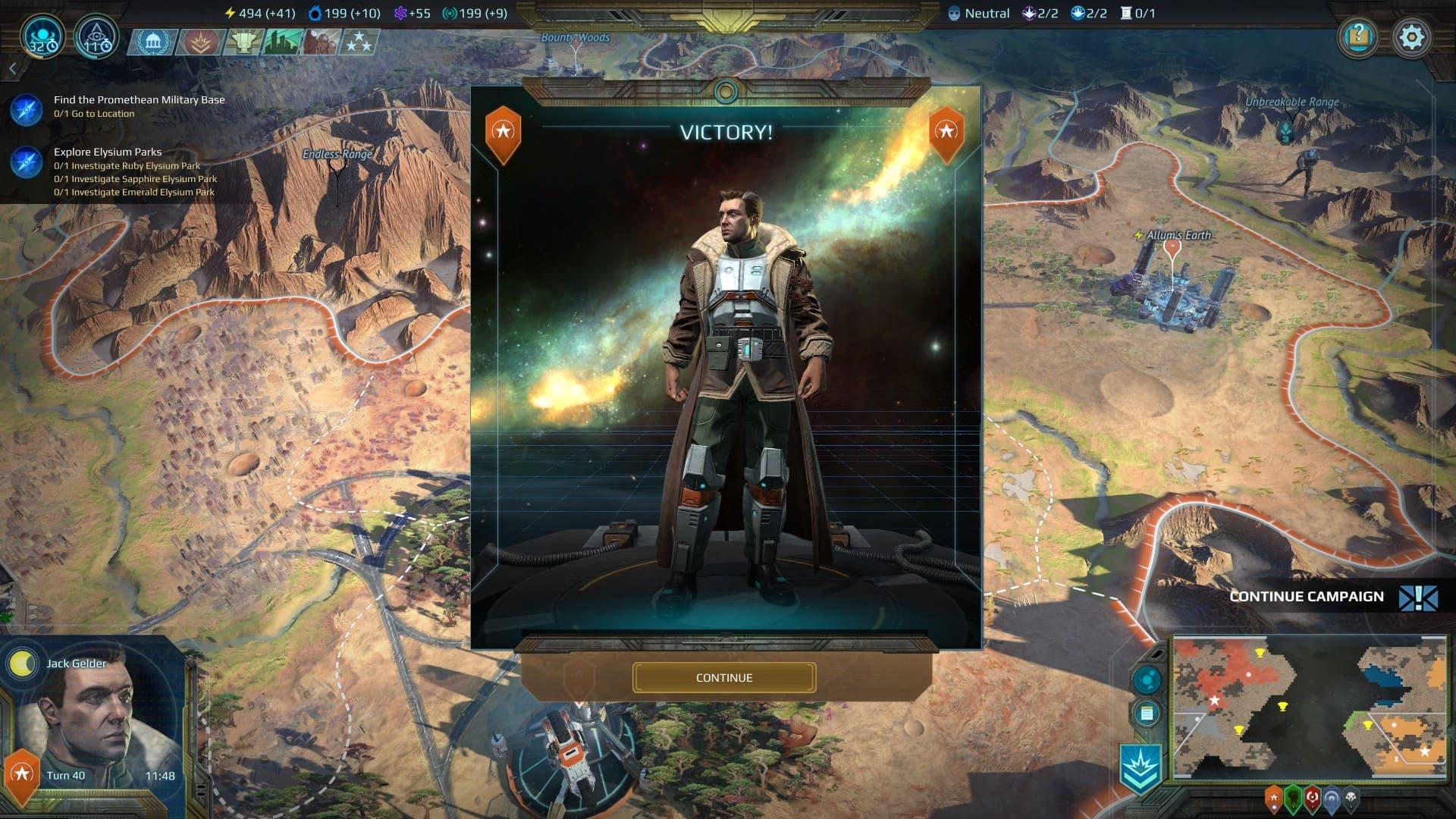 Age of Wonders: Planetfall; gameplay: vítězství