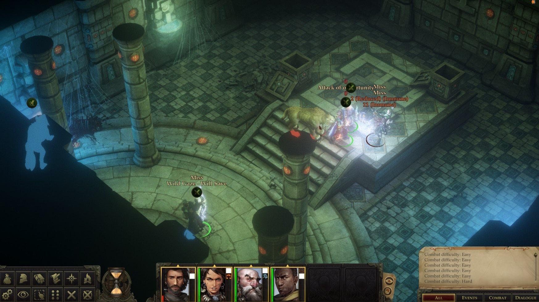 Pathfinder: Kingmaker; screenshot: podzemí