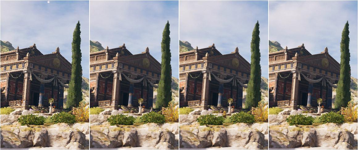 Assassin's Creed Odyssey - Antialiasing porovnání