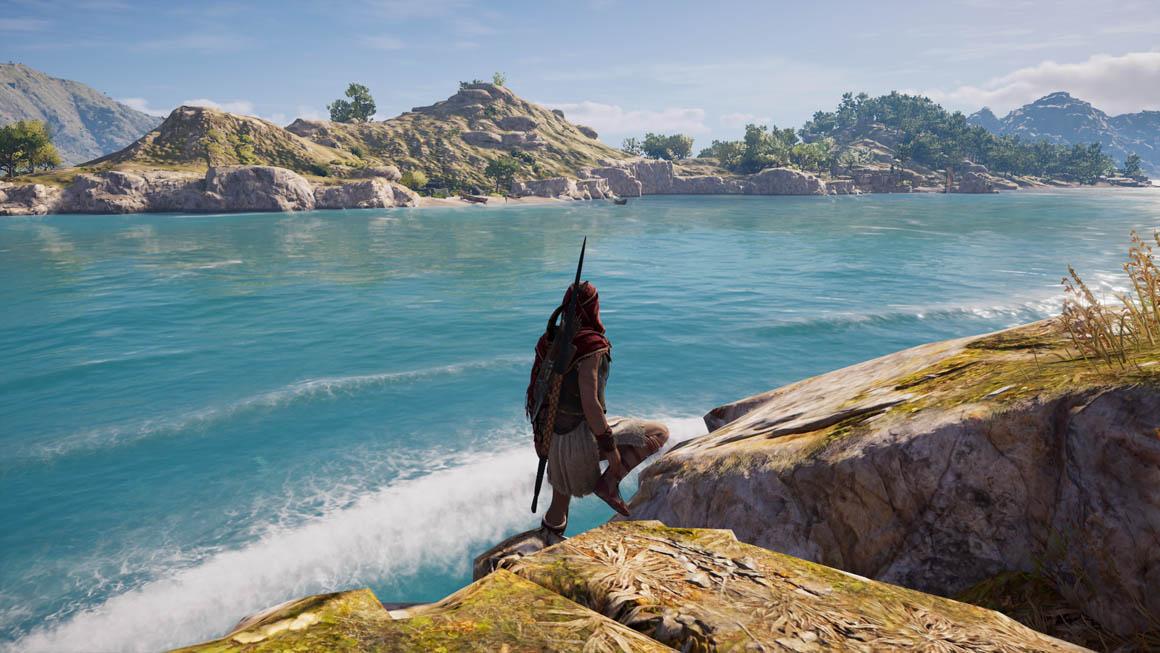 Assassin's Creed Odyssey - Odrazy na obrazovce