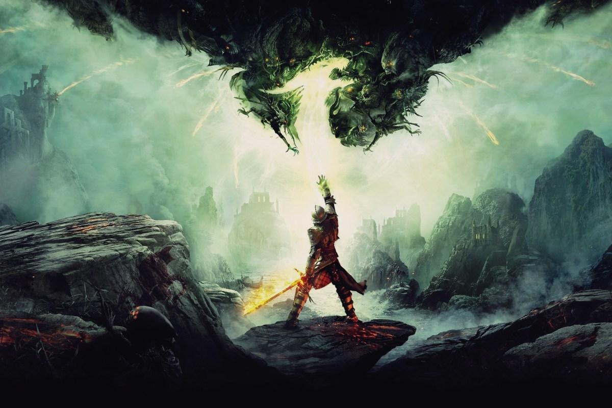 dragon age inquisition, screenshot, logo, wallpaper,