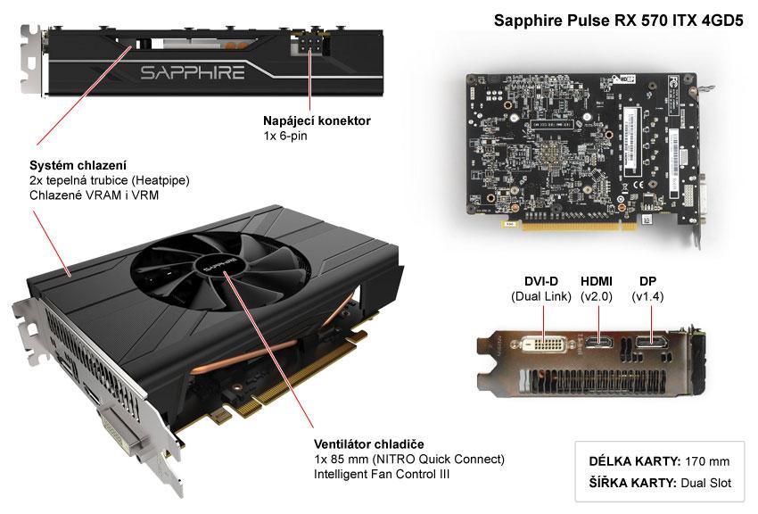 Sapphire Pulse RX 570 ITX 4GD5 popis