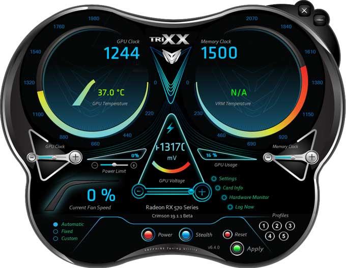 Sapphire Pulse RX 570 ITX 4GD5 TriXX