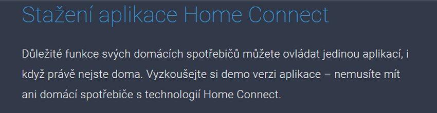 Stáhněte si demoverzi aplikace Home Connect