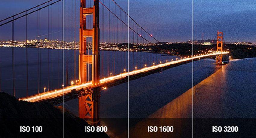 Záběry z dronu - ISO a šum