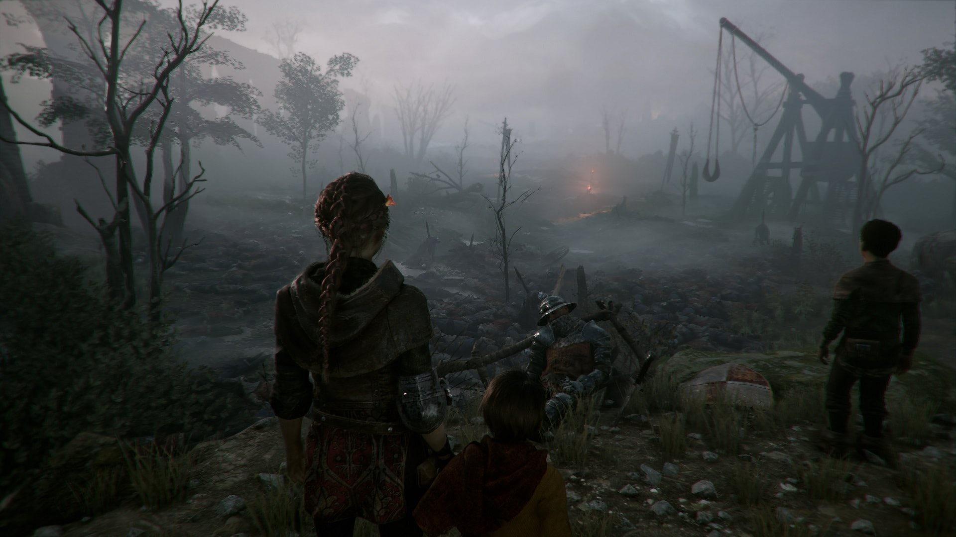 A Plague tale: Innocence; gameplay: bojiště